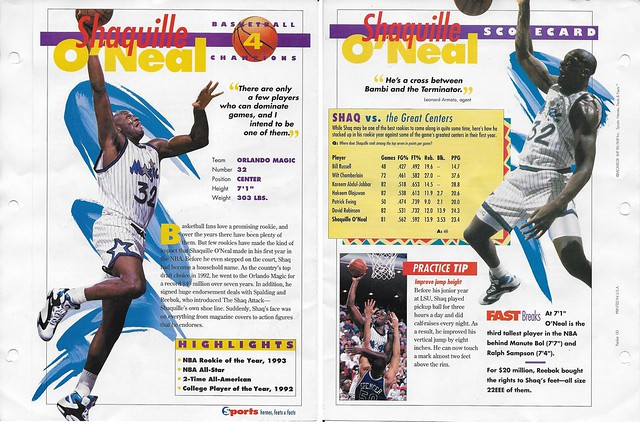 1993 Sports Heroes Feats Packet 00 Sample - Shaq