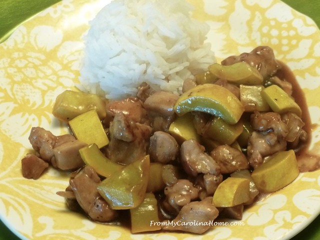 Ginger Chicken at FromMyCarolinaHome.com