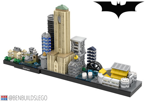 LEGO Gotham Skyline (The Dark Knight Trilogy) [3]