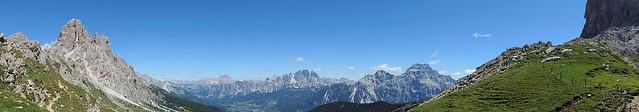 Panoramica da Forcella Ambrizzola
