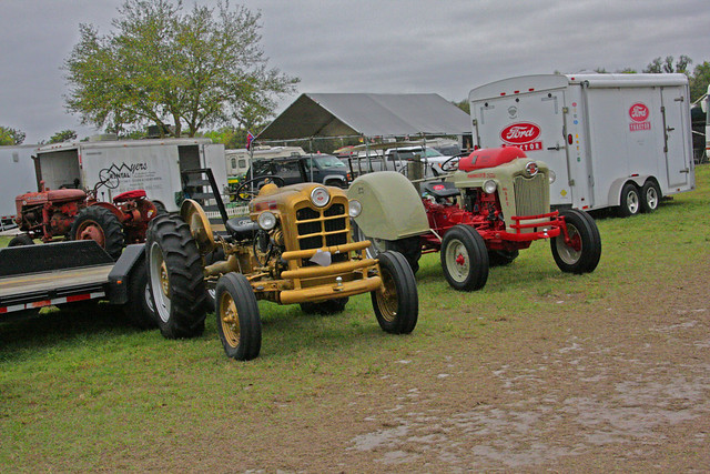 Two Ford Tractors, Antique Tractor Show, Fort Meade, Florida