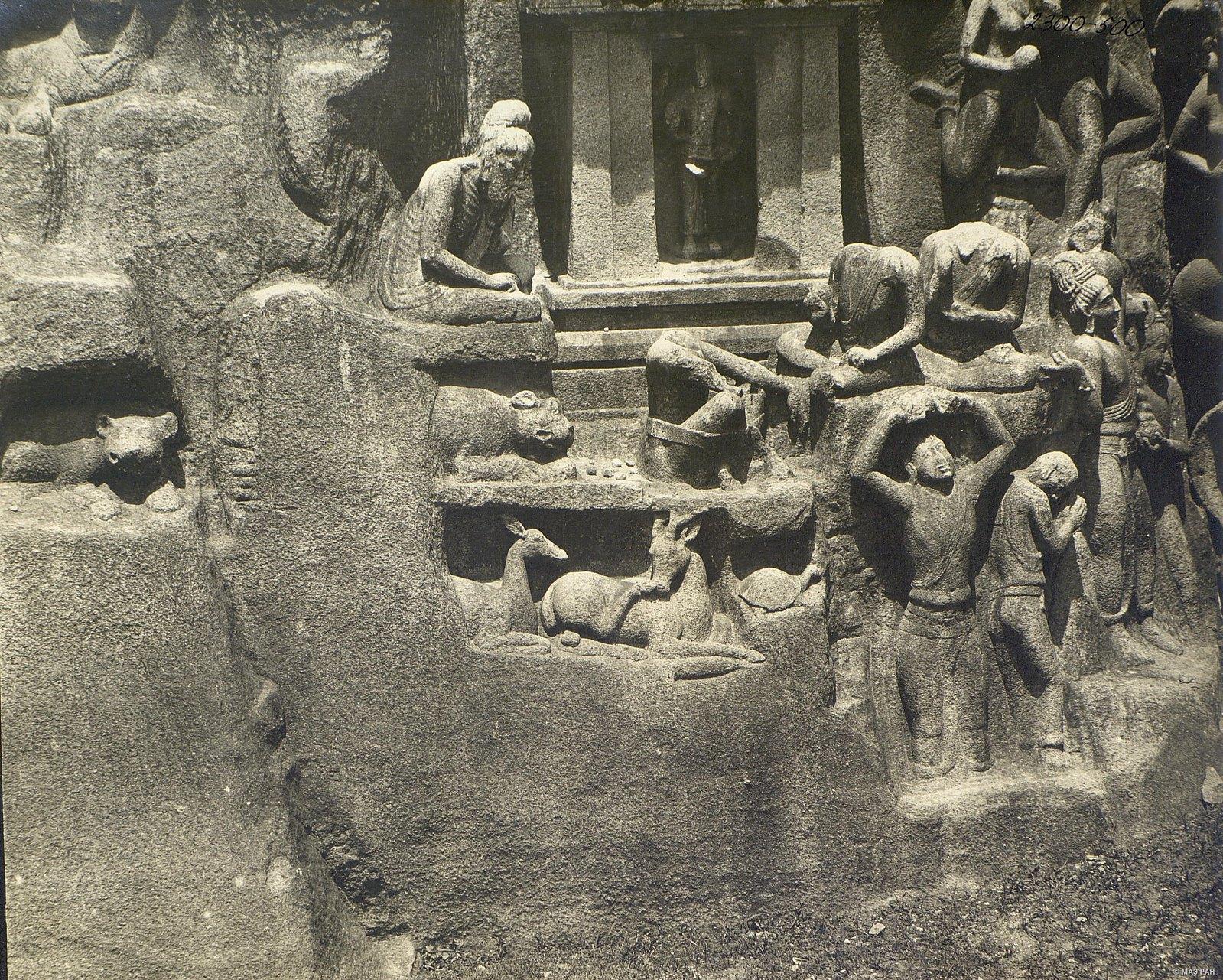 Мамаллапур (деталь рельефа с аскетом)