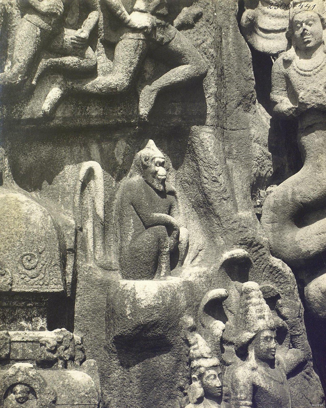 Мамаллапур (деталь рельефа «Обезьяна»)