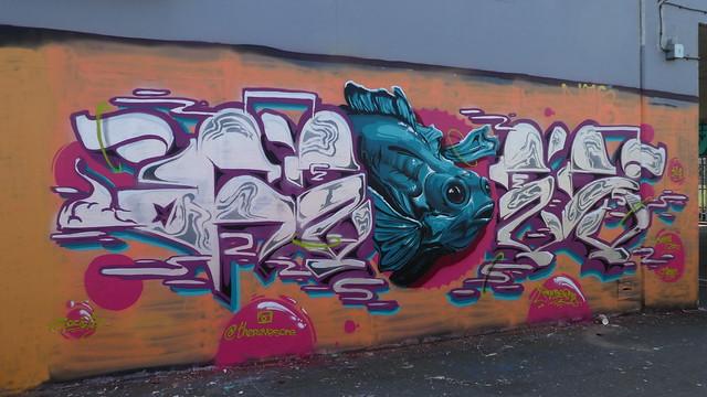 Reves One graffiti, Shoreditch