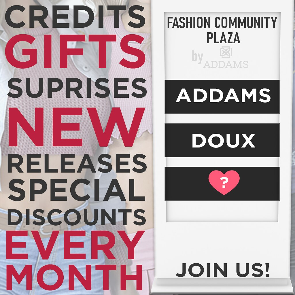 ⚡️New Fashion Community Plaza – Doux Release + Giveaway!⚡️
