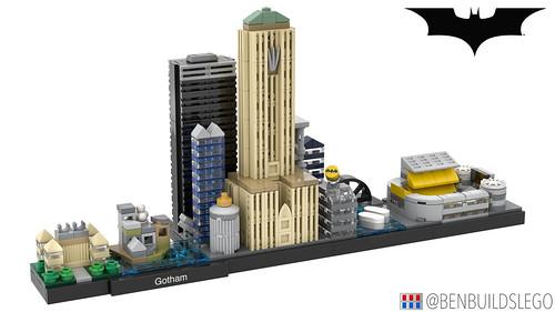 LEGO Gotham Skyline (The Dark Knight Trilogy) [2]