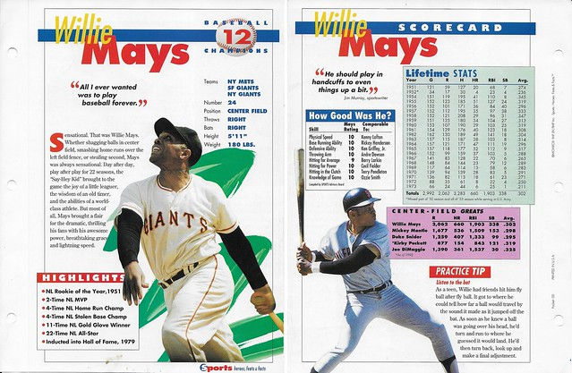 1993 Sports Heroes Feats Packet 00 Sample - Willie Mays