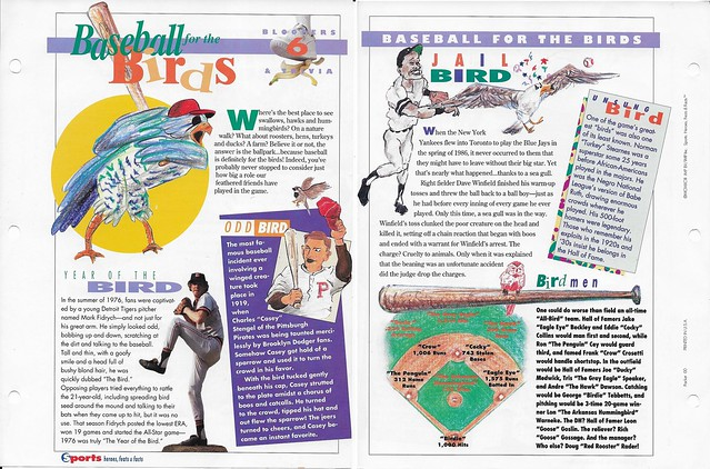 1993 Sports Heroes Feats Packet 00 Sample - Fidrych-Winfield