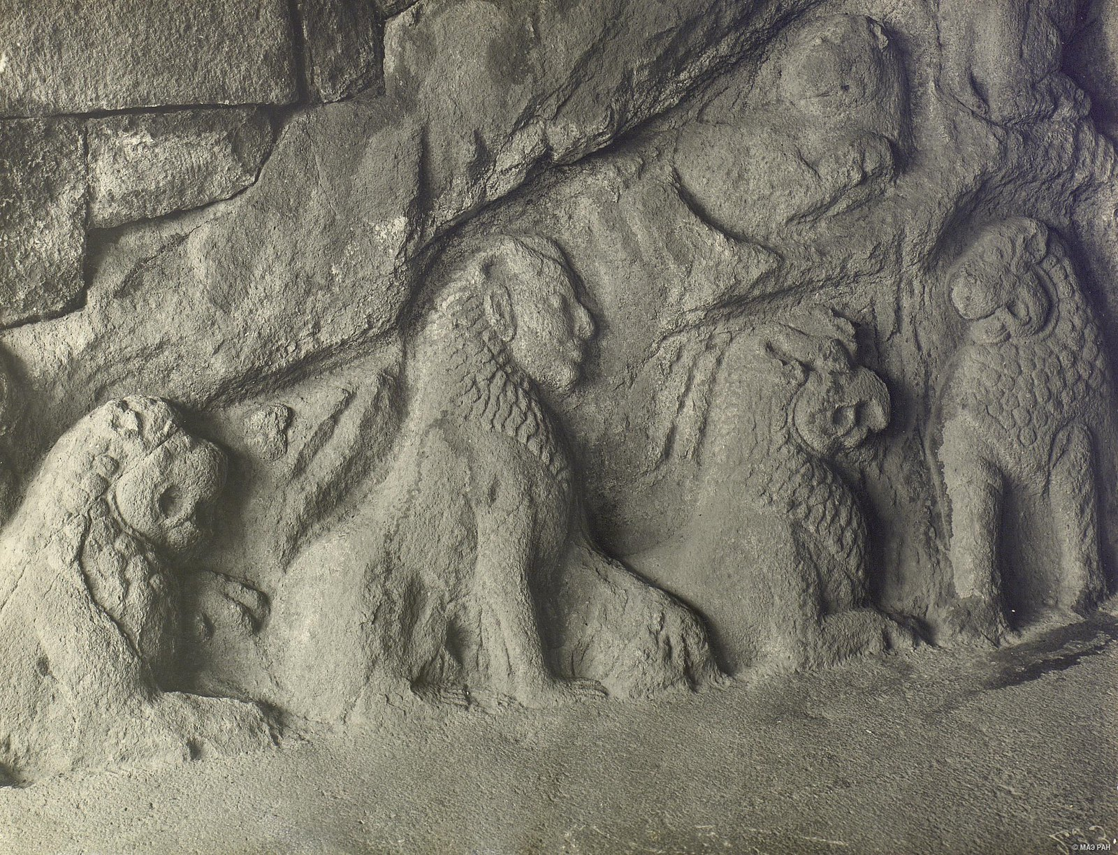 Мамаллапур (деталь рельефа со львами) (5)