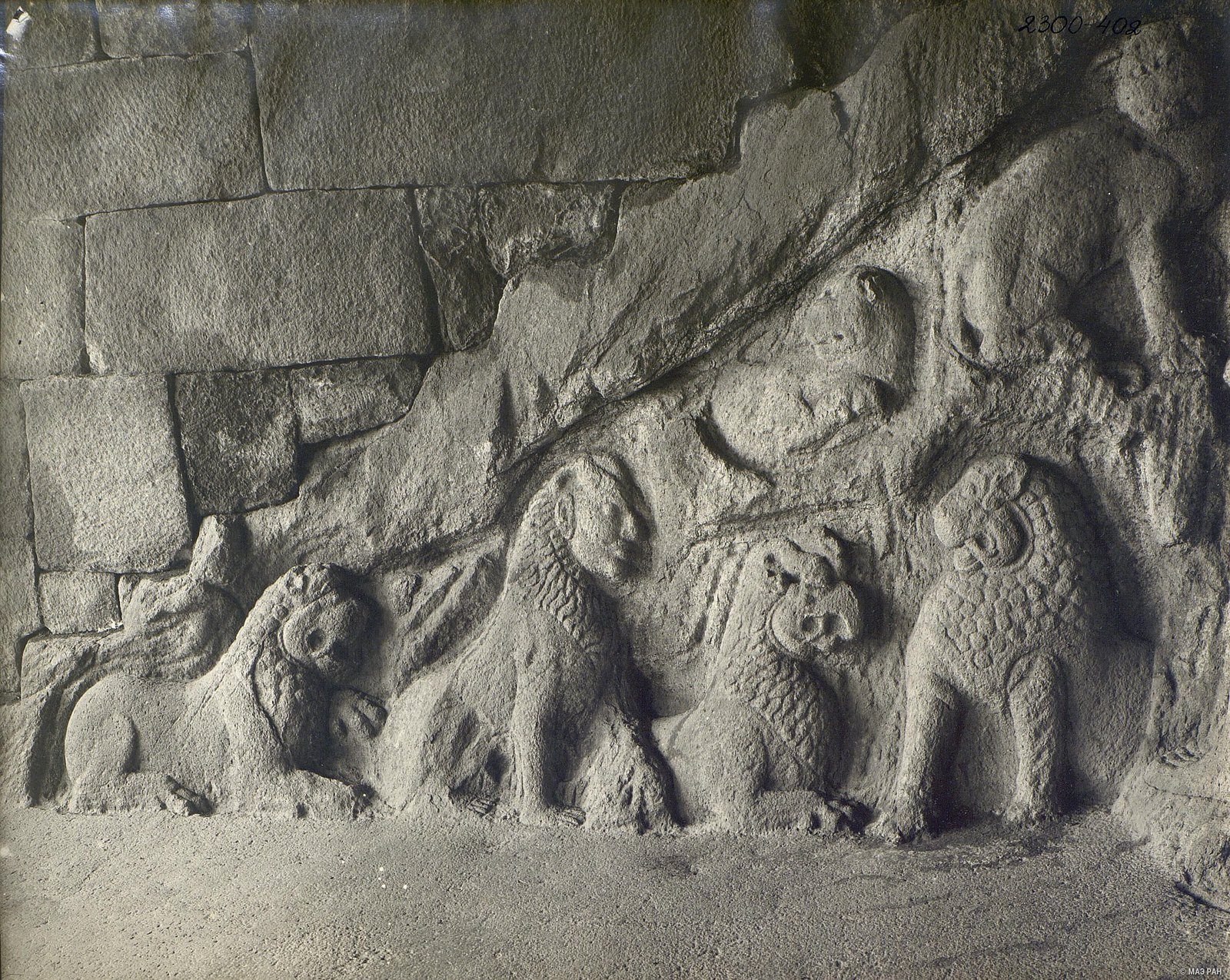 Мамаллапур (деталь рельефа со львами) (1)