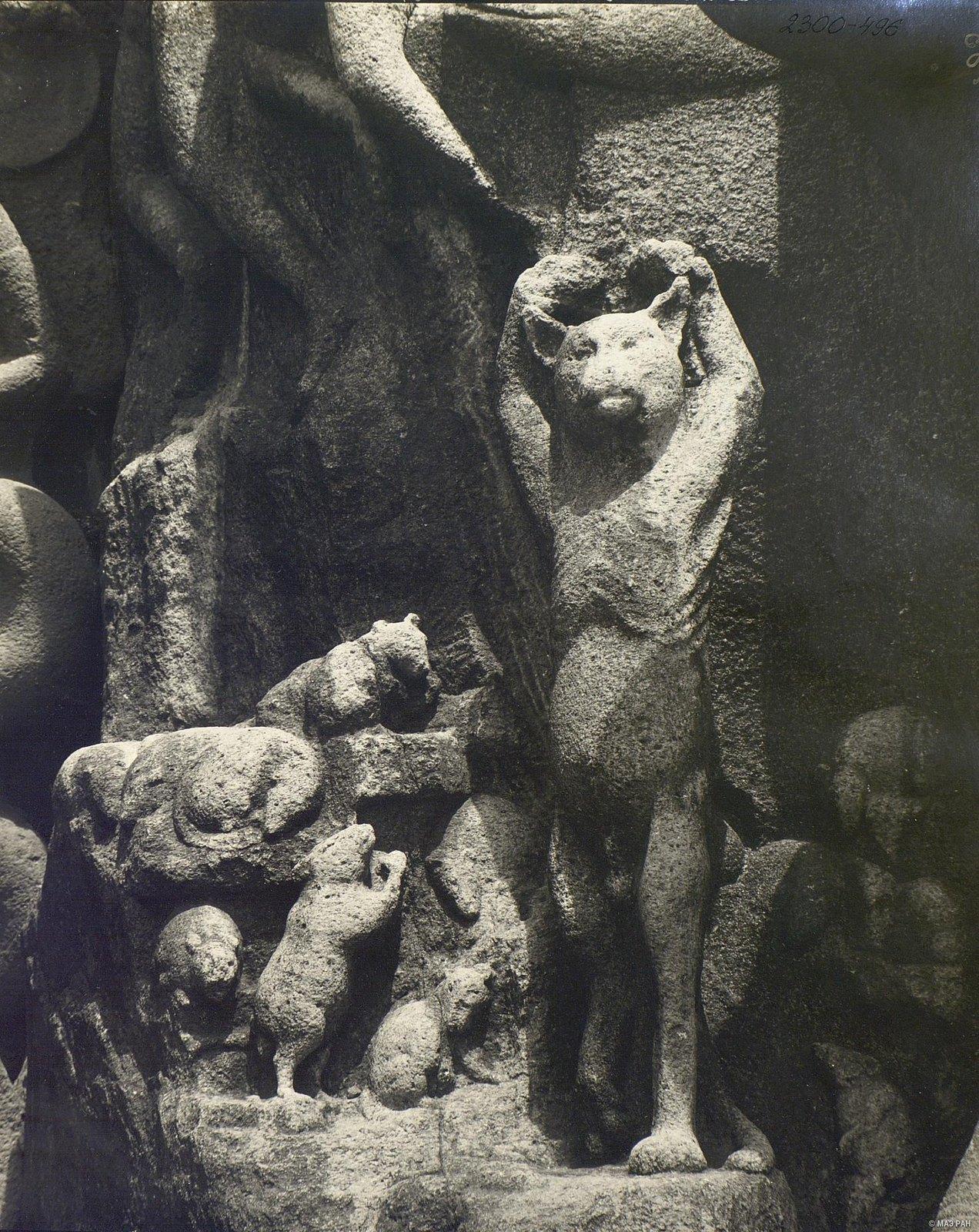 Мамаллапур (деталь рельефа «Кот-подвижник»)
