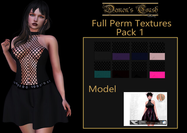 [DC] Textures – FLECHA Mollie Dress Fullperm 1