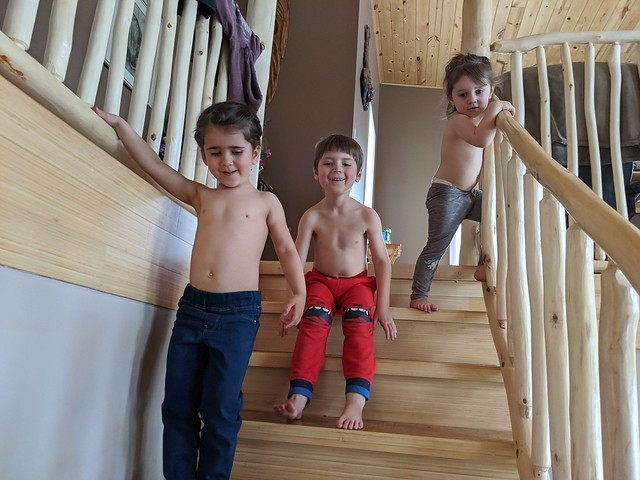 Playing on the Stairs