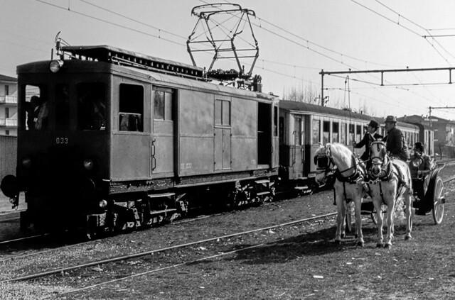FTV DE 033 (Vicenza-Valdagno) Montevecchio San Vitale 24/02/1980. Foto Roberto Trionfini