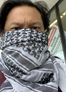 Keffiyeh as face mask
