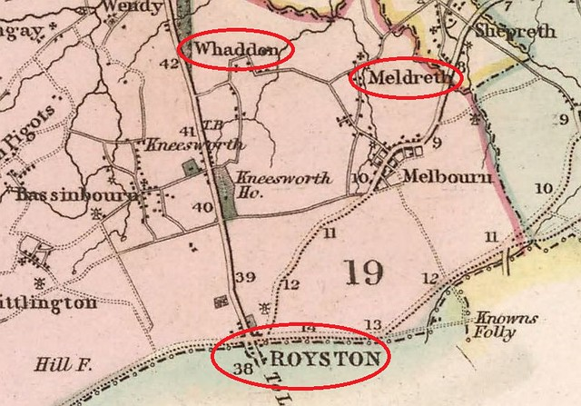 Cambs detail map 1834