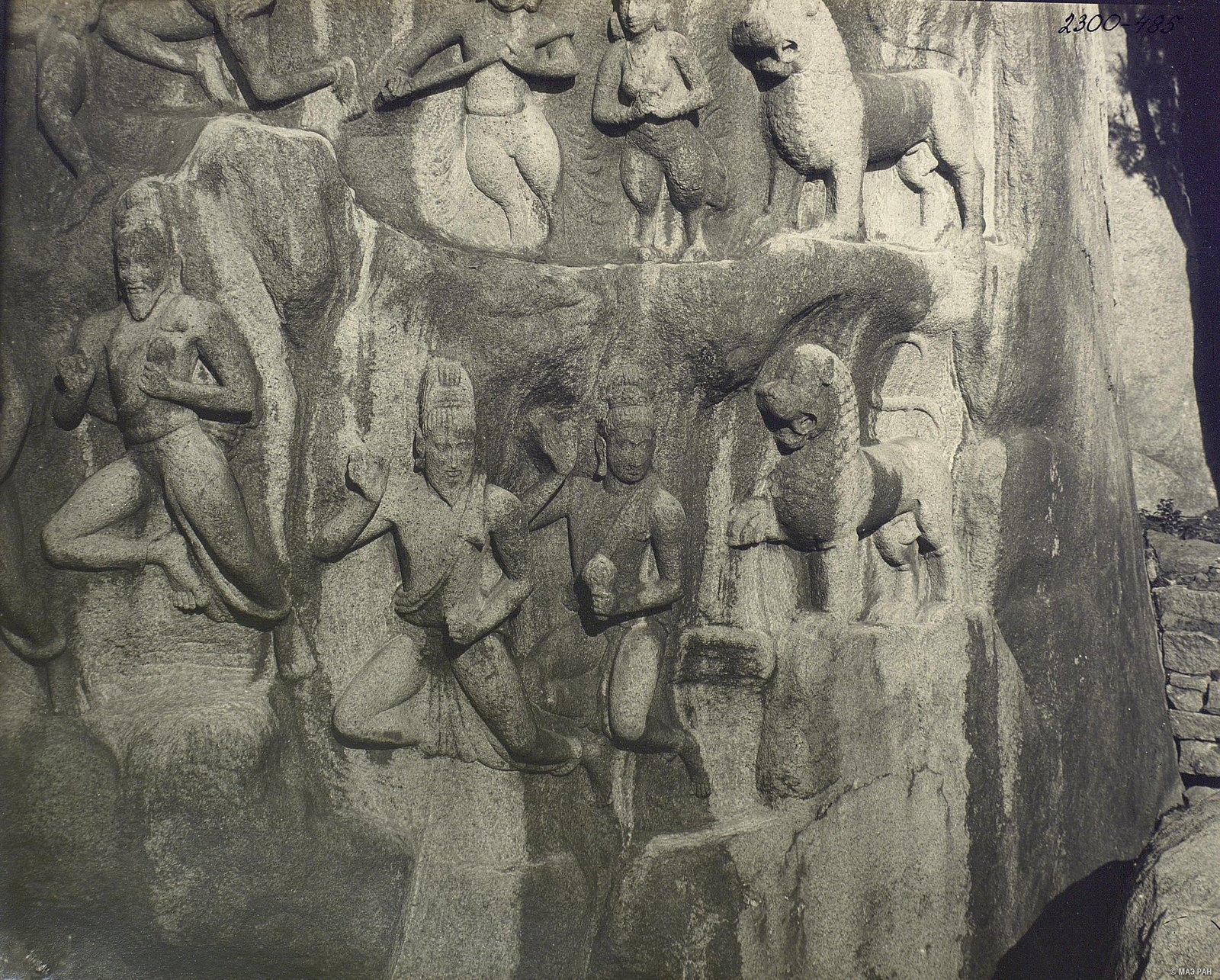 Мамаллапур (деталь рельефа со львами) (3)