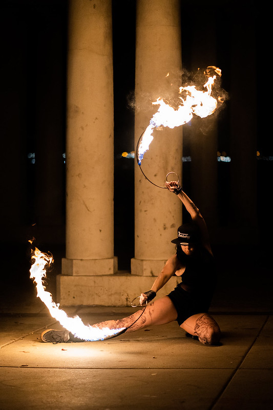 Tanya, fire dancer