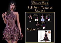 [DC] Textures - FLECHA Mollie Dress Fullperm FAT