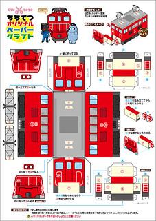 ペーパークラフト☆電気機関車(EL506)
