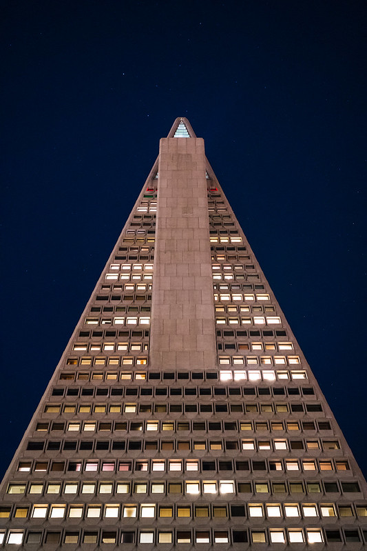 Transamerica Pyramid, one of the defining features of the San Francisco skyline.