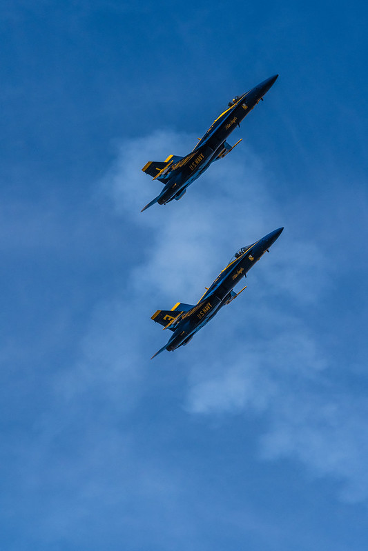 Blue Angels over San Francisco during Fleet Week 2019