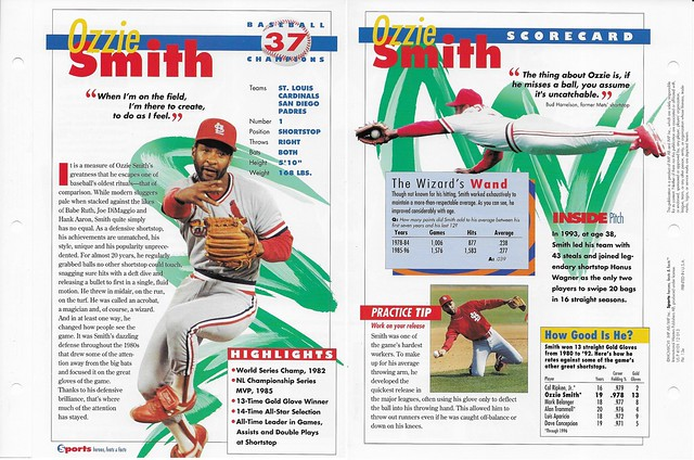 1997 ozzie smith baseball 13e