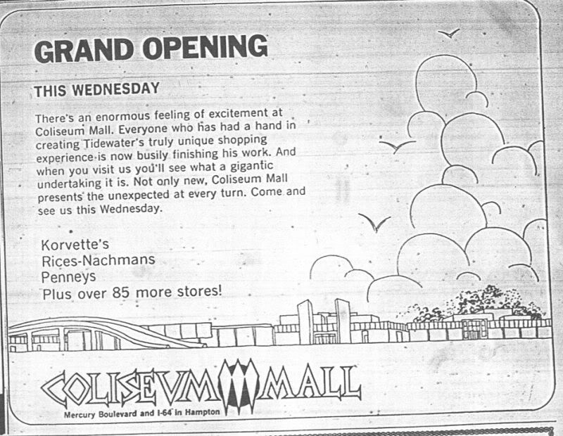 Coliseum Mall Grand Opening, 10/31/1973