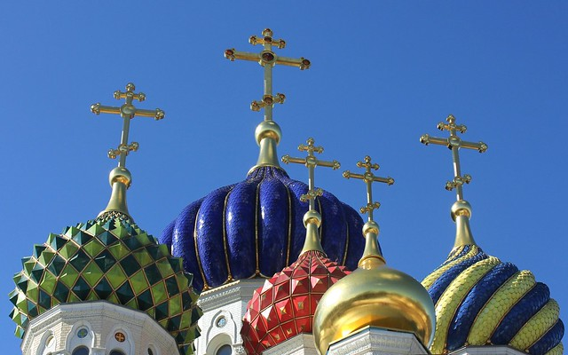 Holy Russia, Moscow, the Cathedral Church of Saint Igor of Chernigov in Peredelkino (Соборный храм Святого Игоря Черниговского и Киевского), 7th Lazenki Street, New Moscow, Novo-Peredelkino district. Православнаѧ Црковь.