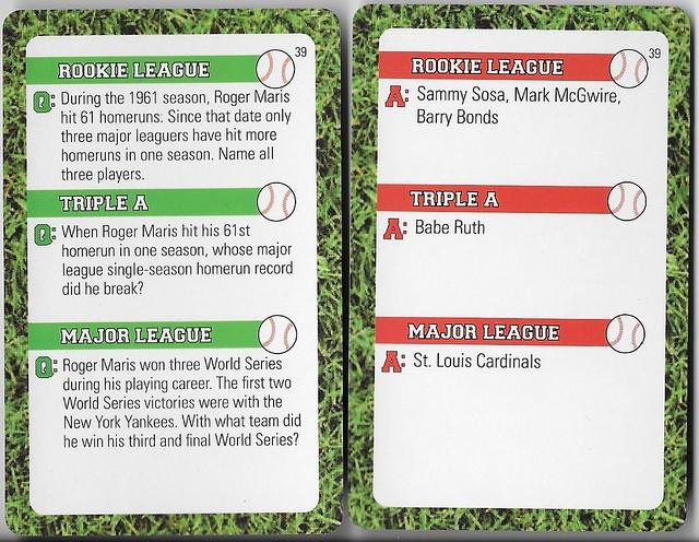 2016 Baseball Spectacular Trivia Sosa-McGwire-Bonds 39