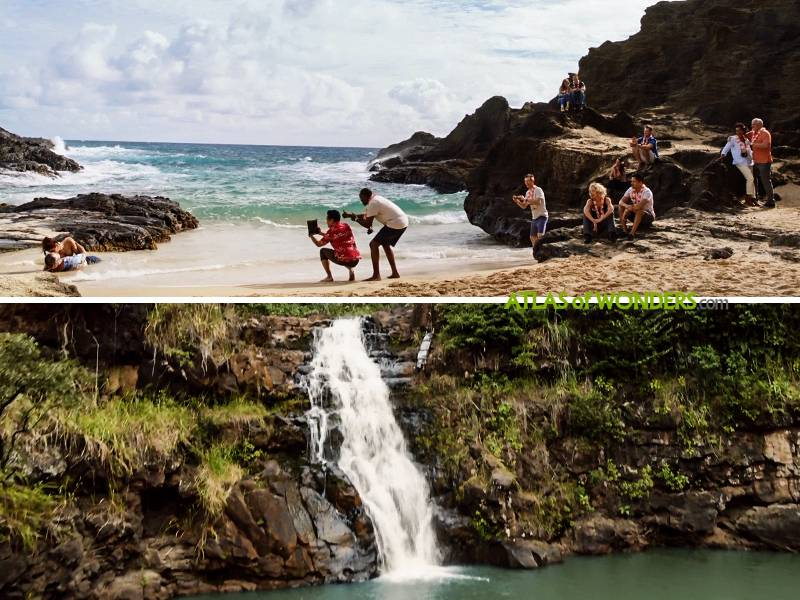 Eternity beach and Waimea Falls