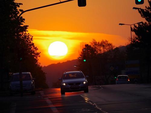 sunrise sonnenaufgang grünbergerstrase giesen