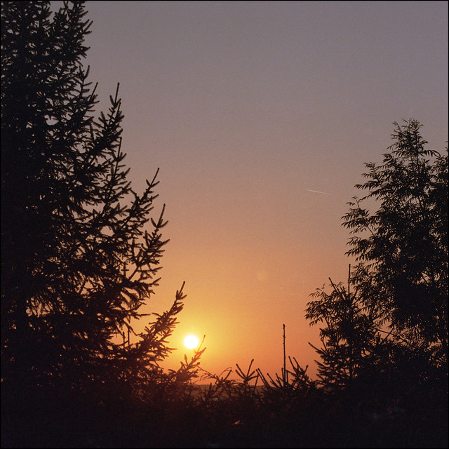 Sonnenuntergang im Kraichgau