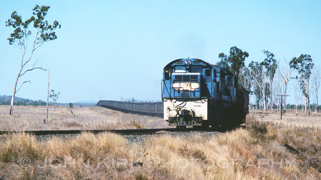 QR2135 heading a Goonyella Coal Drag (1982) by Beyond Trains