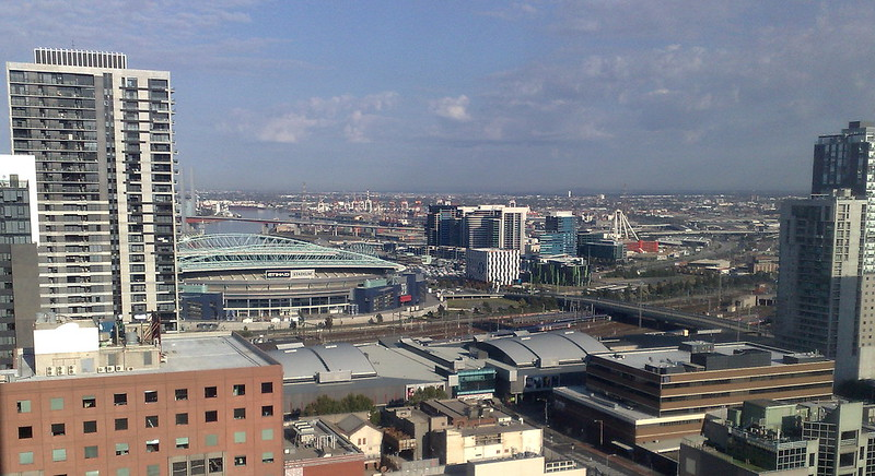 View over Docklands, April 2010