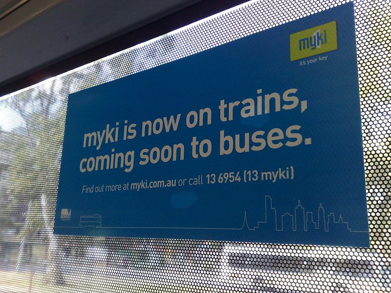 Myki is now on trains, coming soon to buses (April 2010)