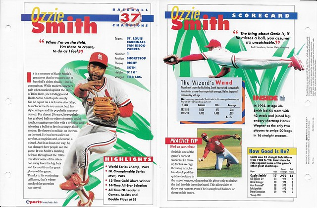1995 ozzie smith baseball 13a
