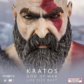 再現年邁滄桑面容! Gaming Heads《戰神(God of War)》克雷多斯(Kratos) 1:1 比例胸像 限定 500 體登場