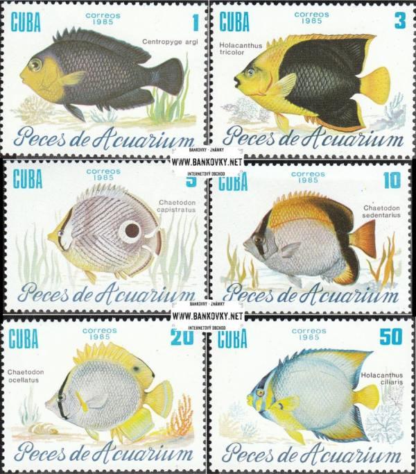 Známky Kuba 1985 Akvarijné ryby