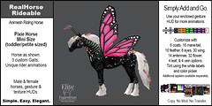Elite Equestrian Animesh RealHorse Rideable Miniature Pixie Horse for the tiny/toddler set