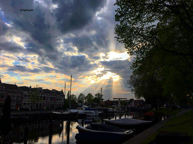 Eveningtime in Woerden, Holland