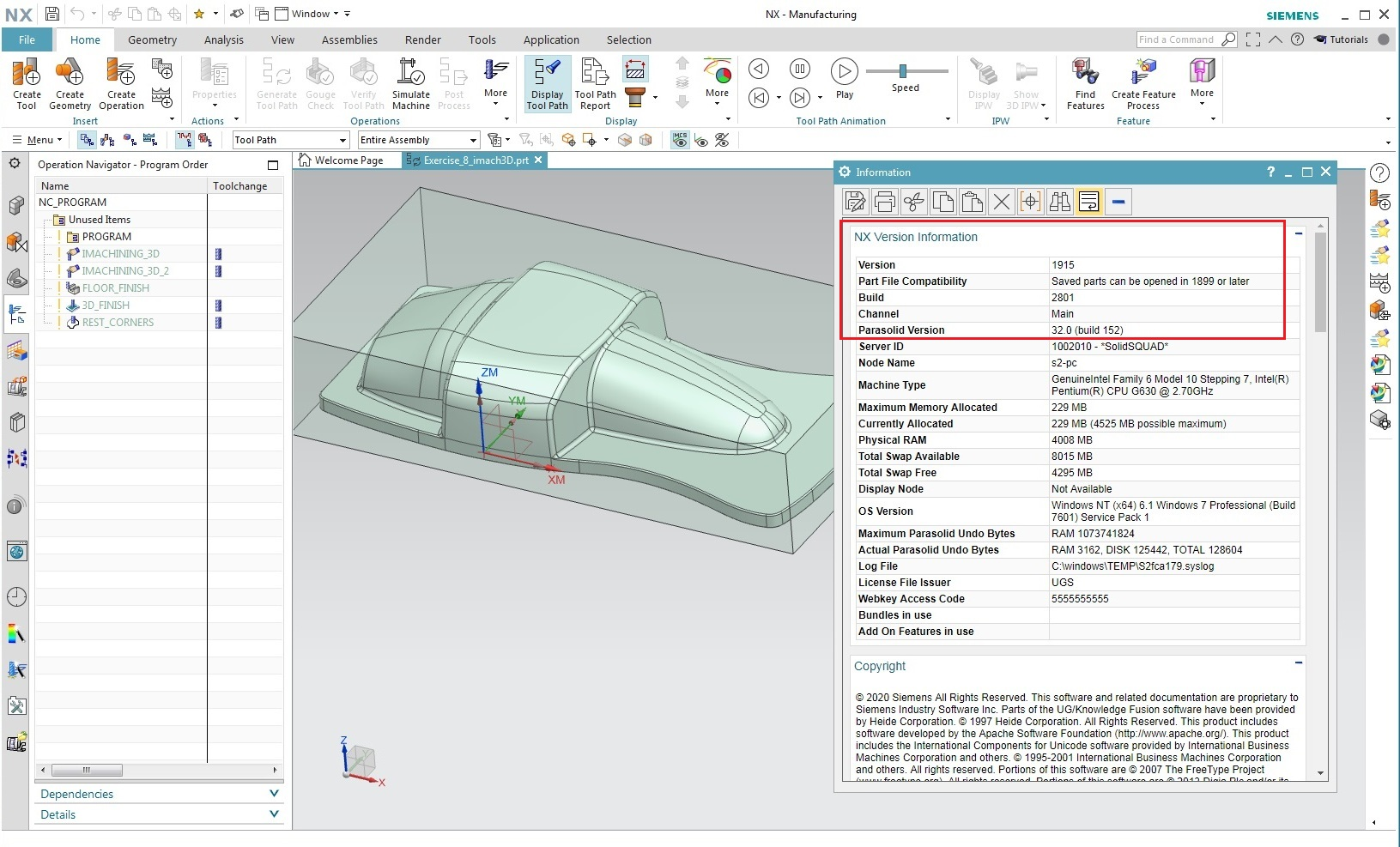Working with Siemens NX 1915 Build 2801 full