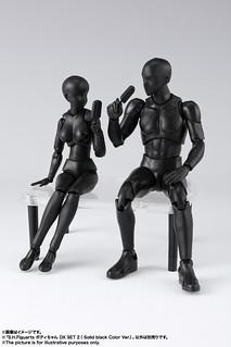 壓倒性可動加上豪華配件再登場!S.H.Figuarts 素體君/素體醬(ボディくん / ボディちゃん)DX SET 2( Solid black Color Ver.)