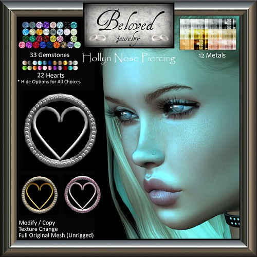 Beloved Jewelry : Hollyn Heart Nose Piercing