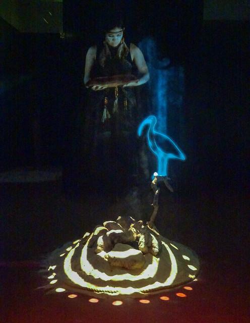 Hologram Over a Lit Mound