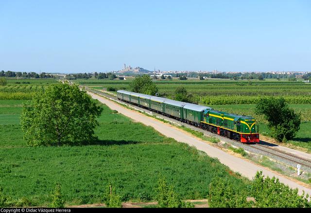 Tren histórico en Alcoletge.