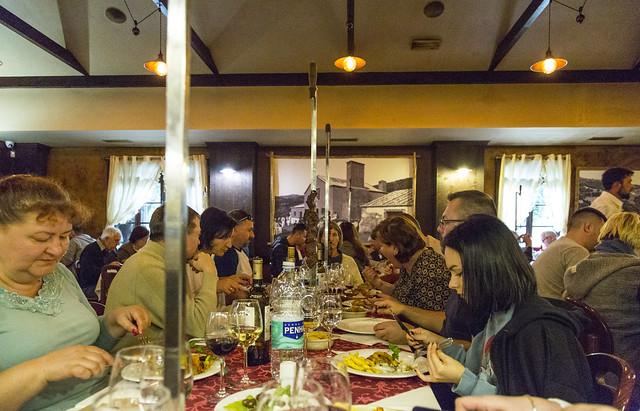 Restauracja w górach - Madeira w styczniu 2020