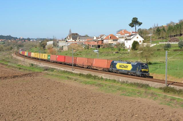 Comboio de Contentores n.º 51182/3 - Quinta de S. Lourenço