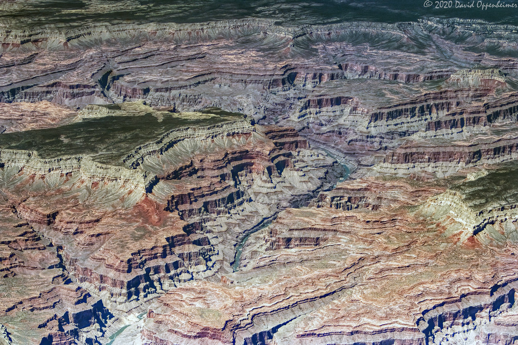Grand Canyon National Park Aerial View of  Great Thumb Mesa and Alarcon Terrace in Middle Granite Gorge