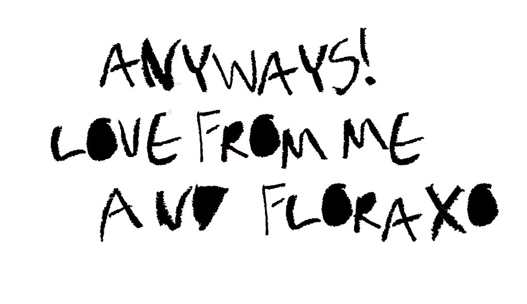 LOVE FROM ME AND FLORA